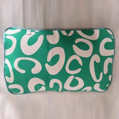绿字母枕巾40cmx60cm-45cmx65cm
