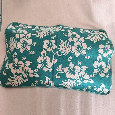 绿花枕巾40cmx60cm-45cmx65cm