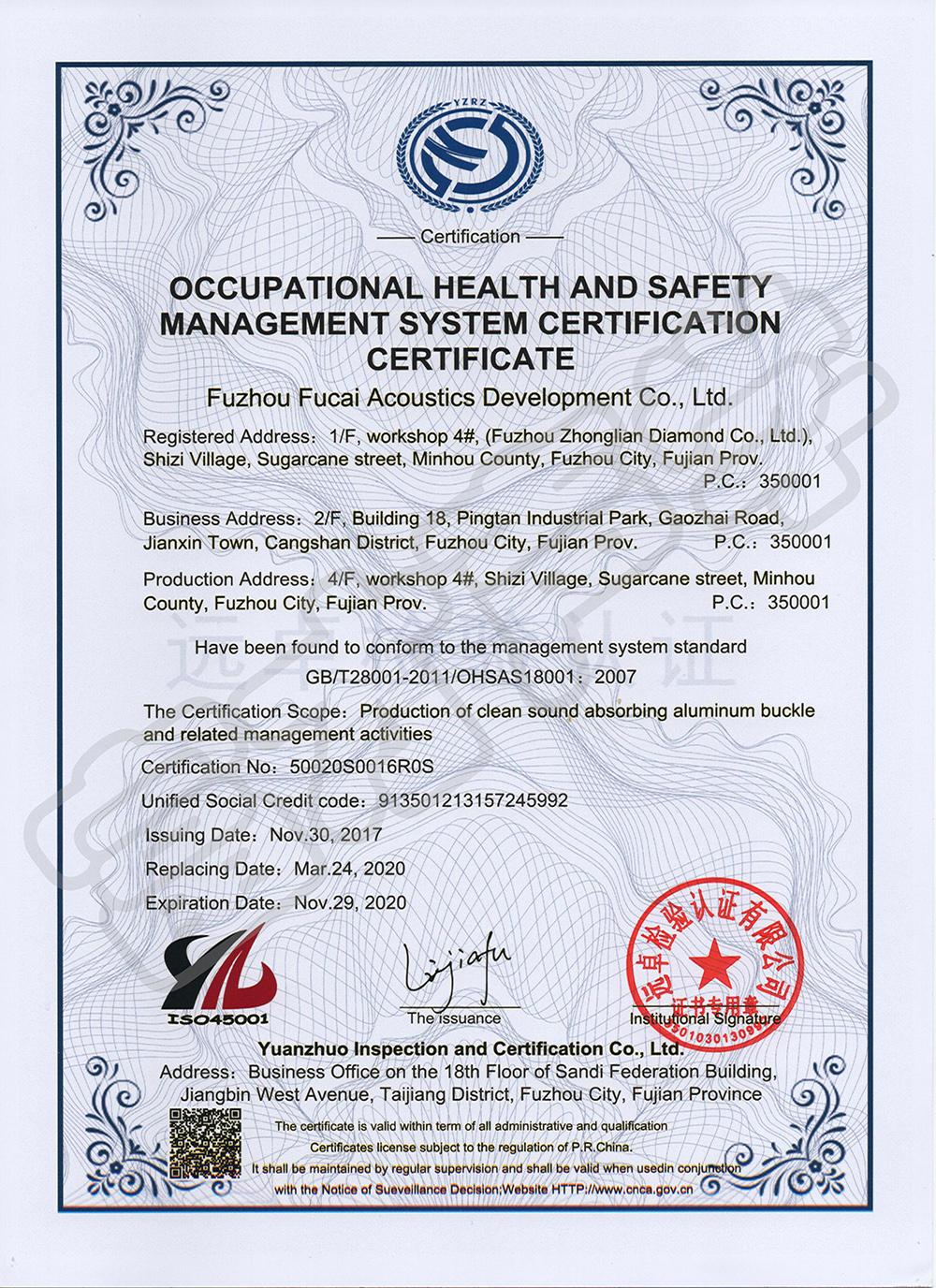OHSAS18001(英文)