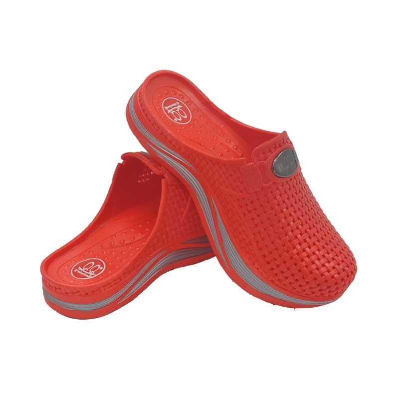 珠大红色纤高女鞋国家专利产品