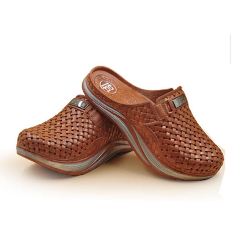 浅棕色前高男鞋国家专利产品