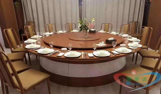 豪華酒店宴會餐廳大理石電動餐桌,電動電磁...