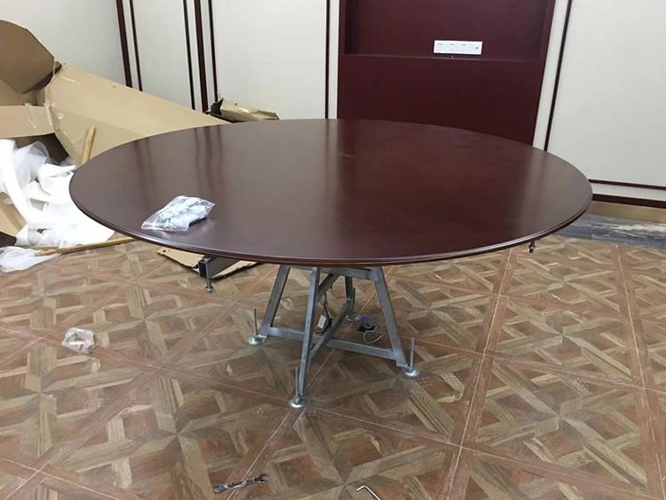 供應實木家具廠電動圓桌 電動餐桌機芯