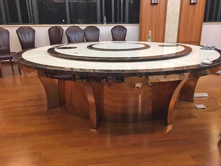 不銹鋼配大理石電動火鍋桌