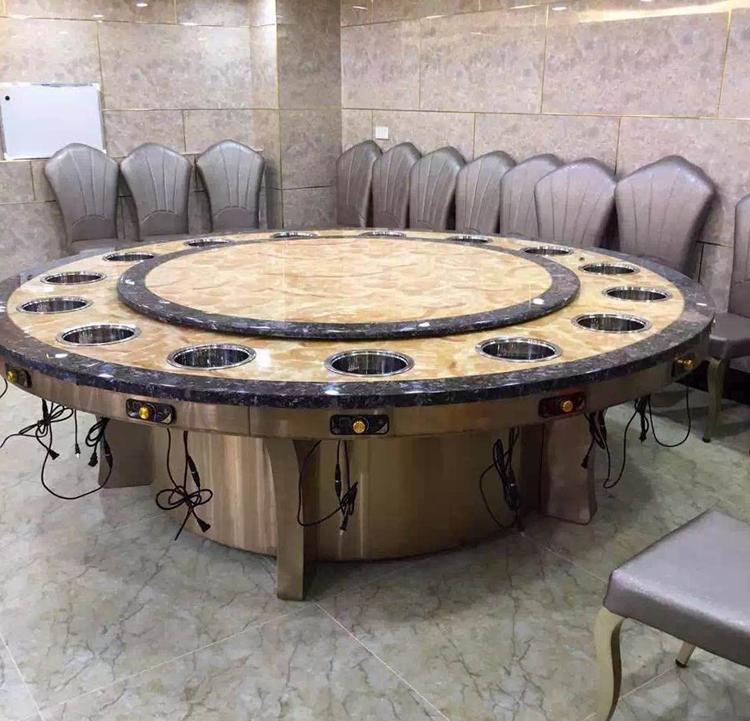 每人一爐大理石火鍋餐桌