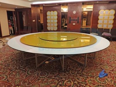惠州客户案例 4.2米钢架电动餐桌