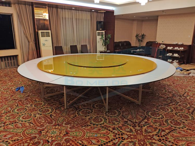 惠州客戶案例 4.2米鋼架電動餐桌