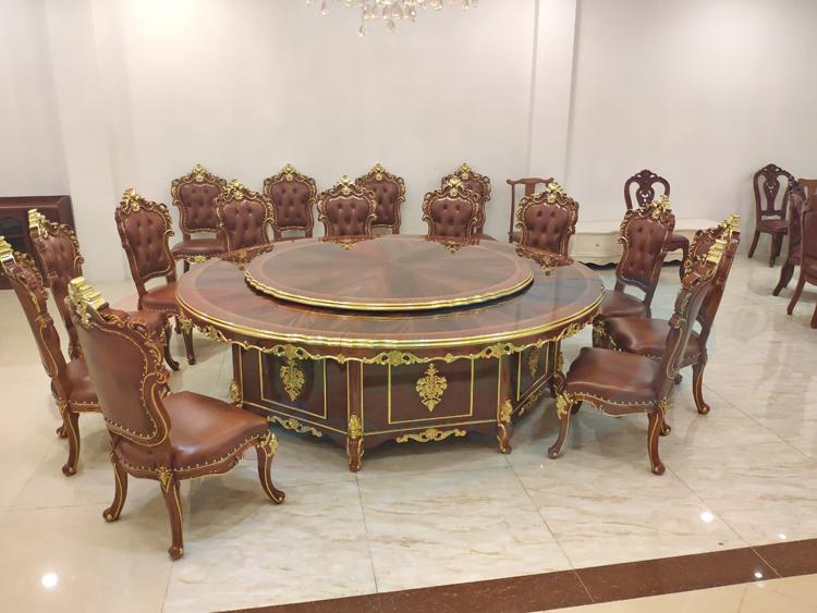 私人會所電動餐桌 別墅豪華電動餐桌
