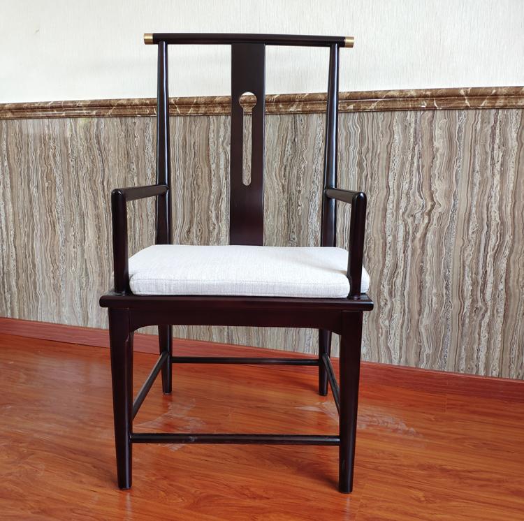 白蠟木扶手餐椅會所包房餐桌椅