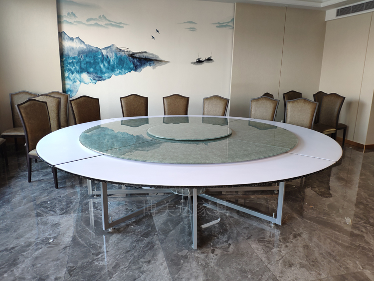 酒店宴會電動鋼架餐桌