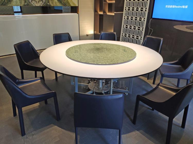 連體鋼架電動餐桌宴會包房餐桌