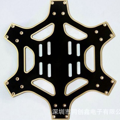 Double side matt black oil immersion gold edging circuit board PCB board UAV circuit board