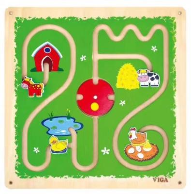 50437  四方墙上玩具-农场滑道