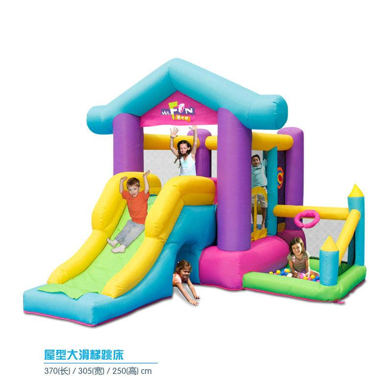 5717-屋型大滑梯跳床