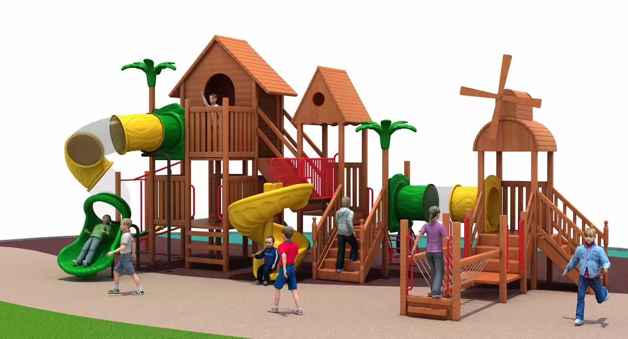 1818602 实木组合滑梯