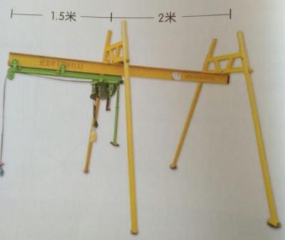 室外四立柱工字鋼直滑吊機