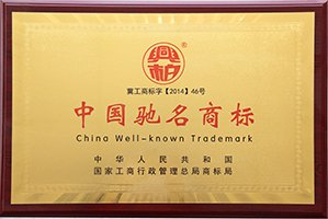 Awarded China Well-known Trademark