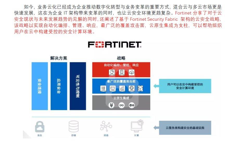 Fortinet公布最新云安全战...