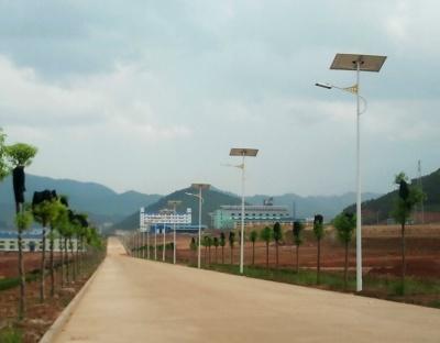 安徽省六安市發電廠路燈項目7米50W太陽能路燈項目