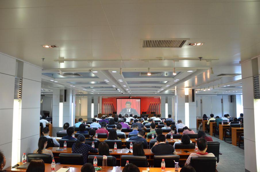 春雨党支部观看十九大开幕式