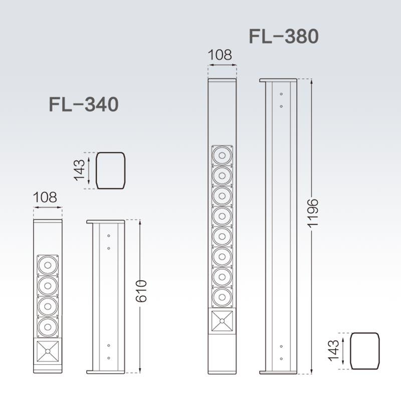 FL340/FL-380 線性陣列全頻揚聲器
