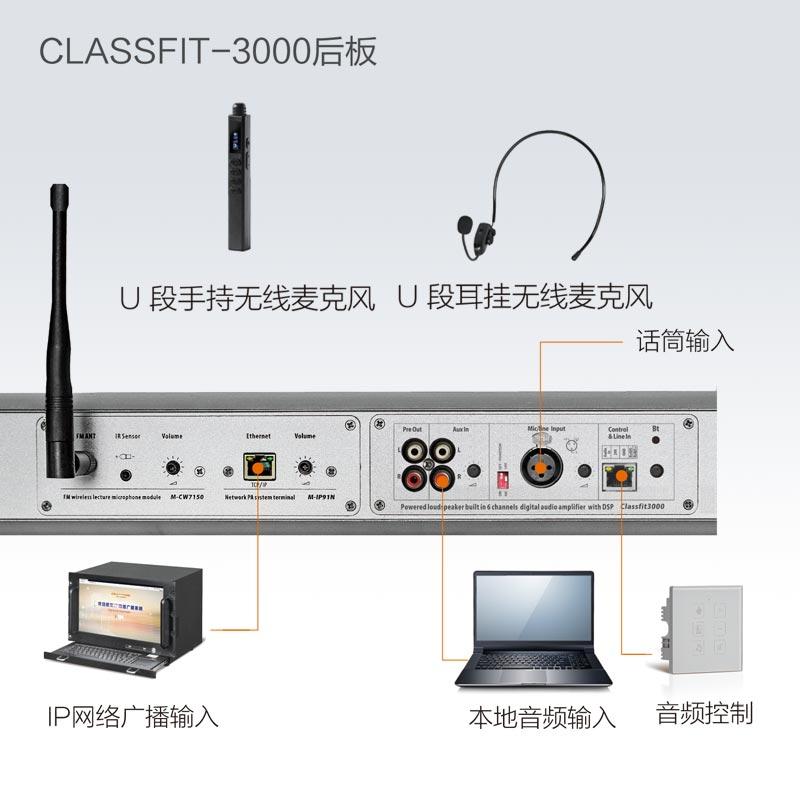 CLASSFIT-2000 高功率一体化无线教学有源音箱