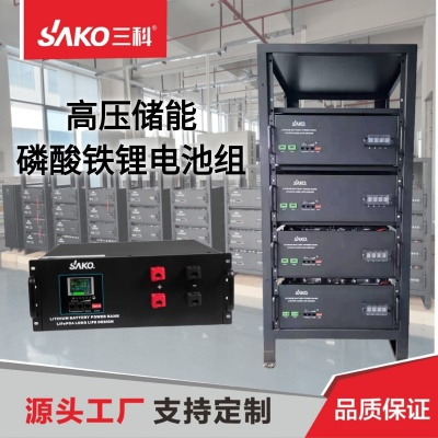 SAKO三科高壓磷酸鐵鋰電池組帶CAN485通訊192V100AH磷酸鐵鋰電池