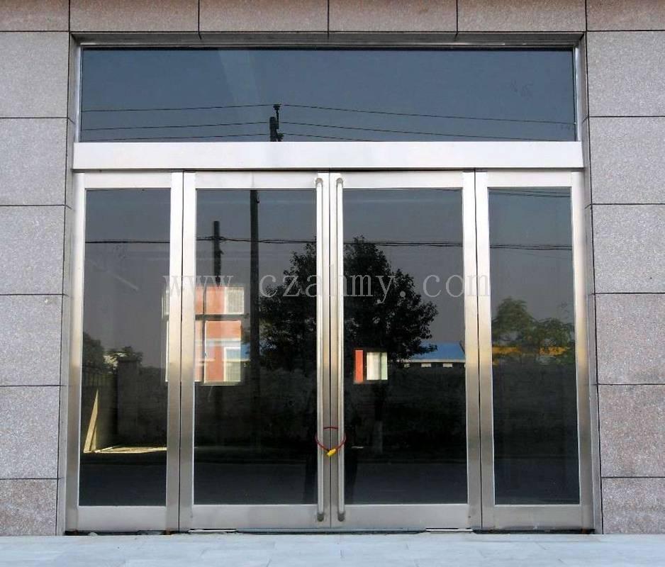 有框无框地弹簧钢化玻璃门