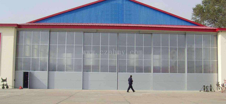 硬质大型机库平移折叠平开门