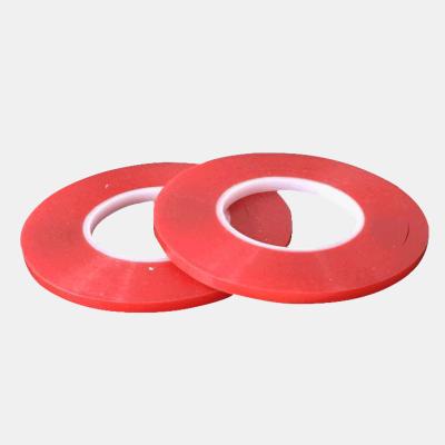 工業不可撕PET紅色雙面膠帶