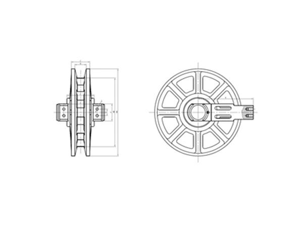 履带吊引导轮系列