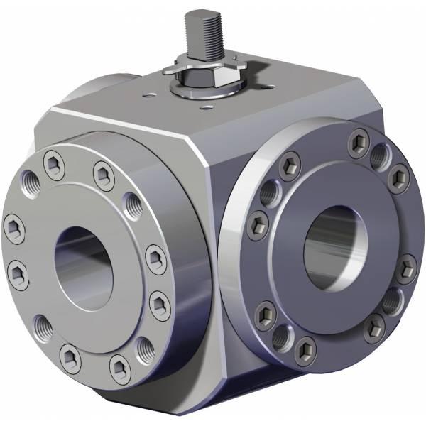 MAGNUM Split Wafer 3通4密封件不锈钢球阀 PN 16-40 ANSI 150