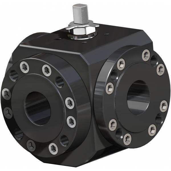 MAGNUM Split Wafer 3通4密封件碳钢球阀 PN 16-40 ANSI 150