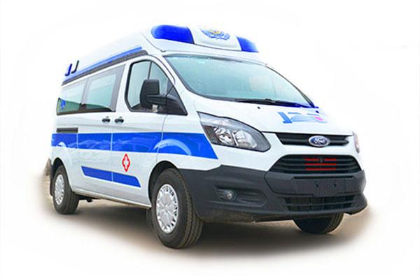 福特全顺v362中轴中顶救护车