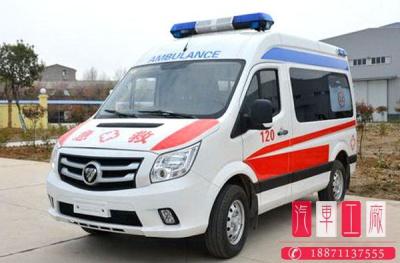 国六福田图雅诺短轴中顶救护车