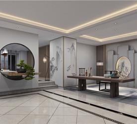 会所改造室内设计作品-2100㎡现代中式