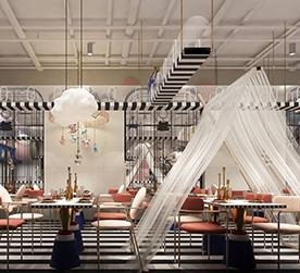 内蒙猫小院主题餐厅&猫宠物店-餐饮空间设计