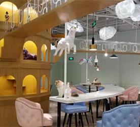 北京猫小院主题餐厅-餐饮空间设计效果