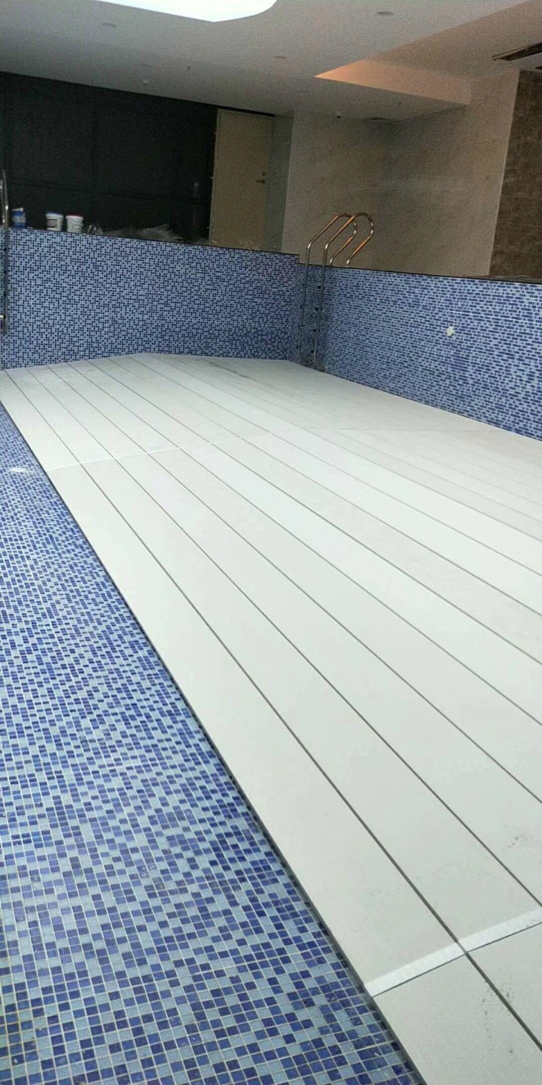 广州天河斜坡泳池垫层案例