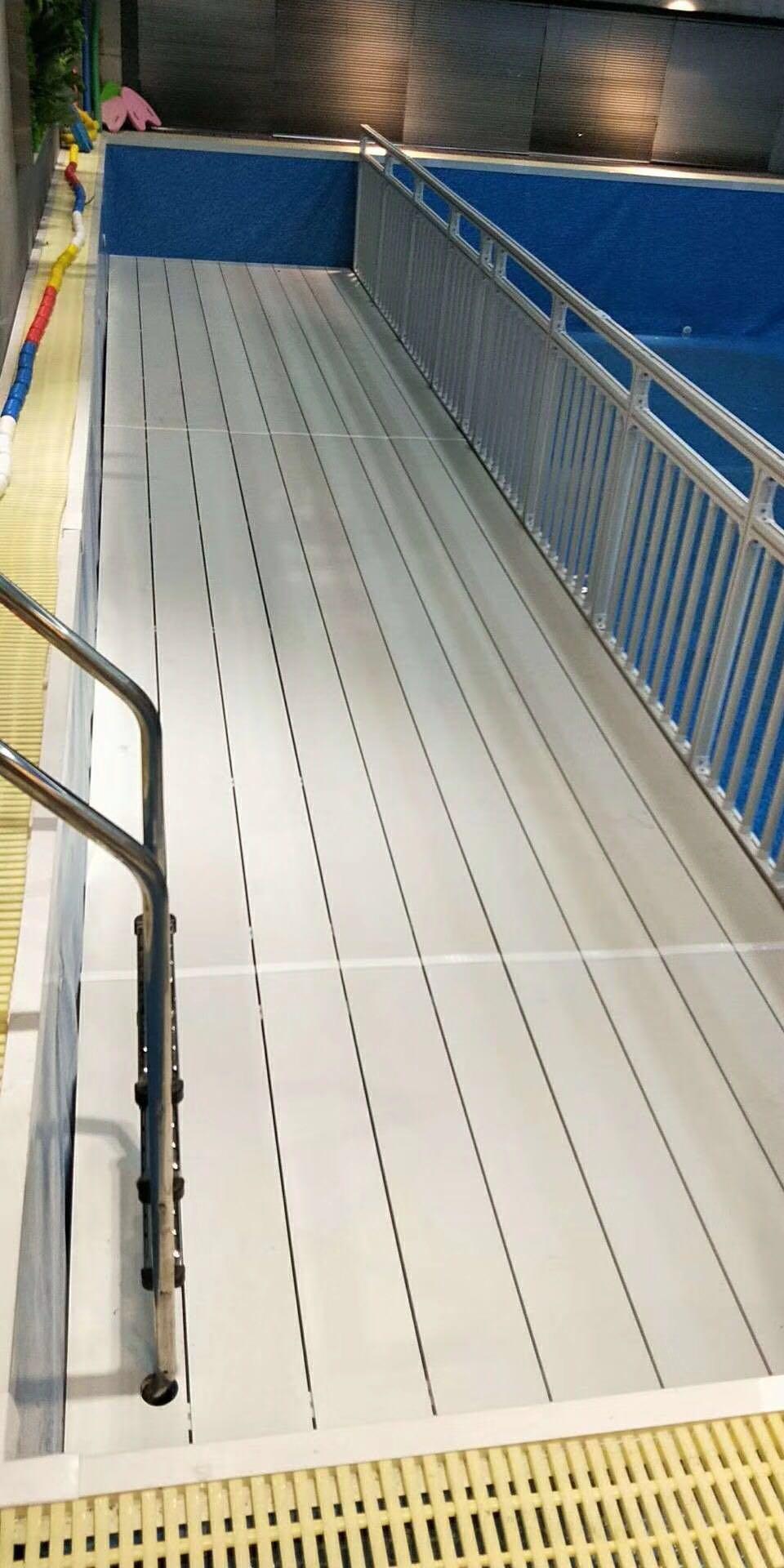 广州同和恒温泳池健身俱乐部泳池垫层带护栏平整垫案例