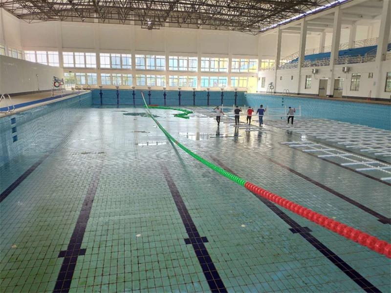 广西贺州学院游泳馆垫层