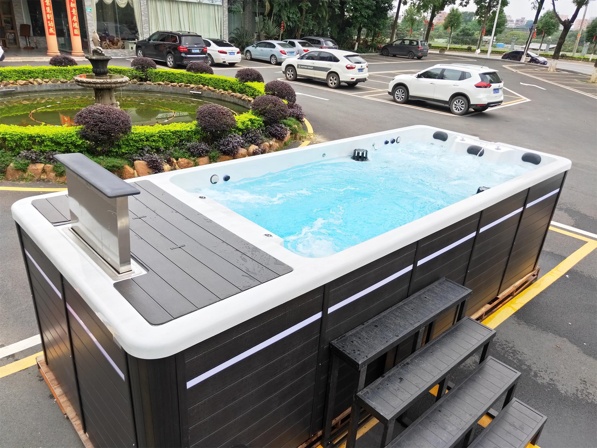 广州五龙山庄酒店无边际游泳池案例