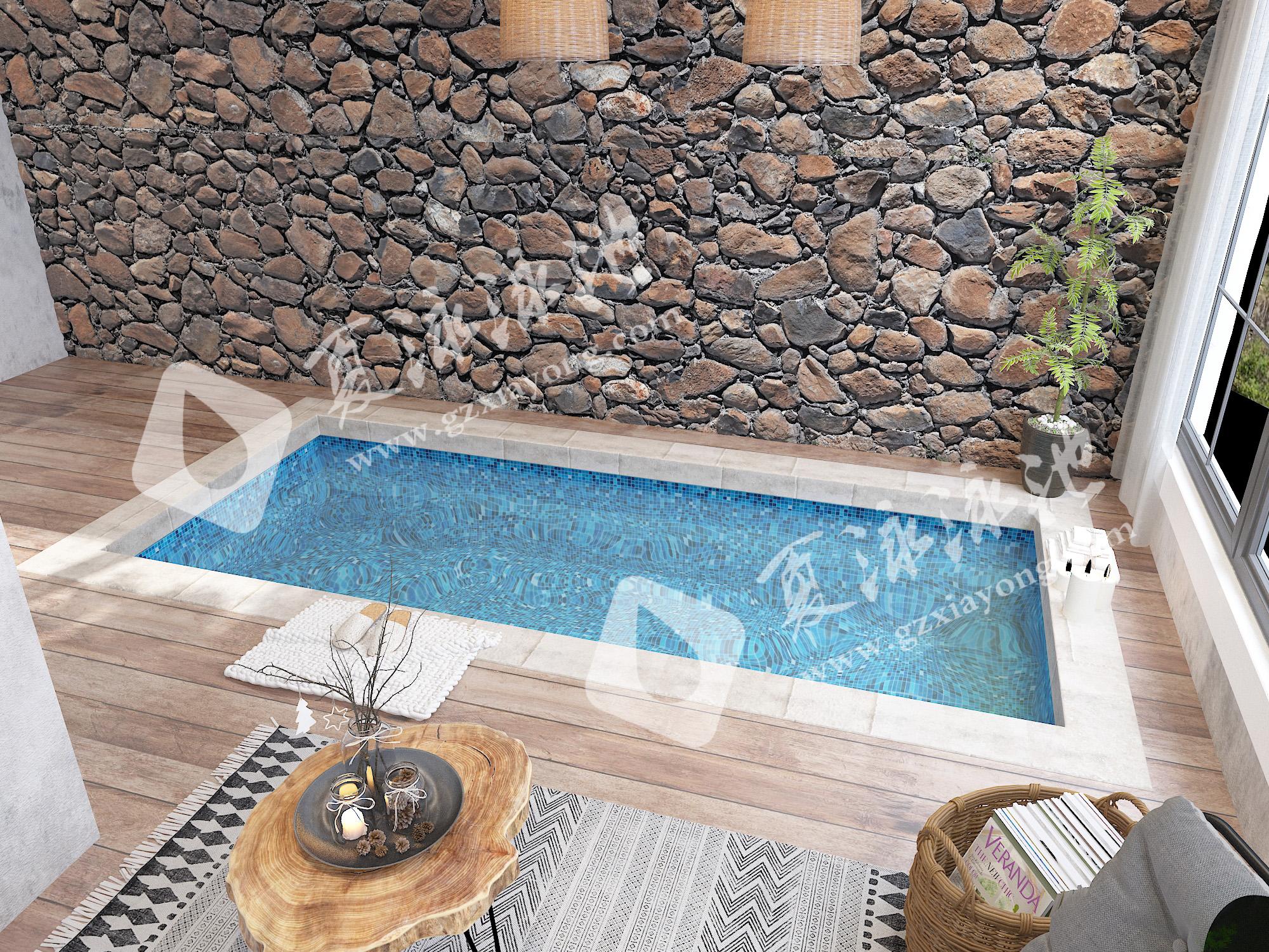 酒店会所室内恒温SPA游泳池效果展示