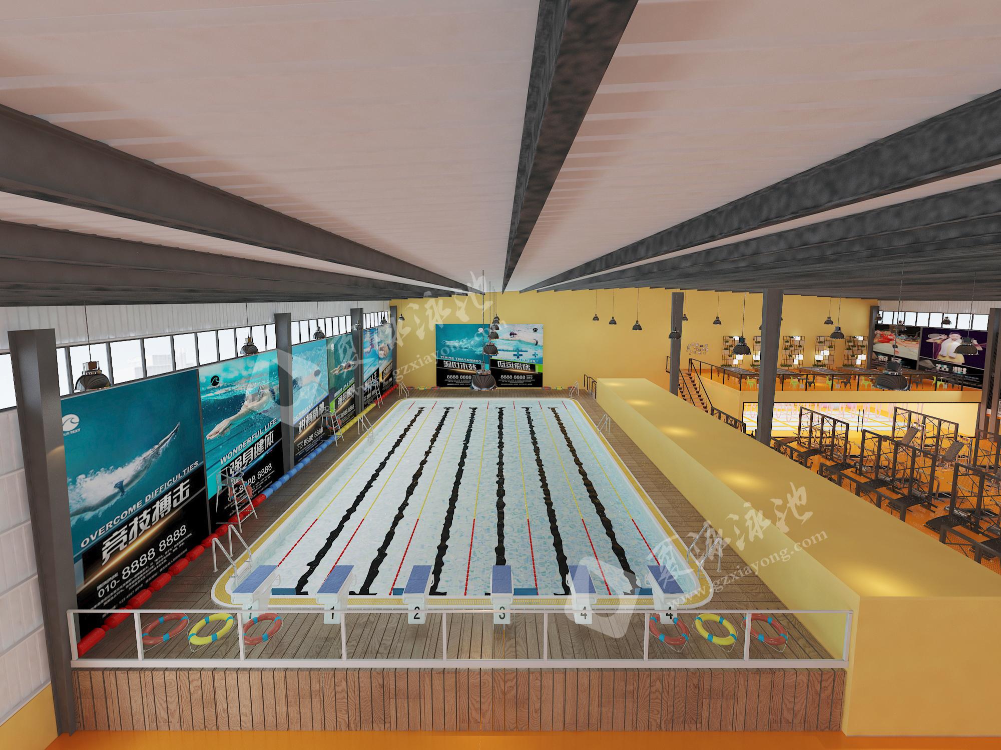健身房游泳培训游泳池效果展示
