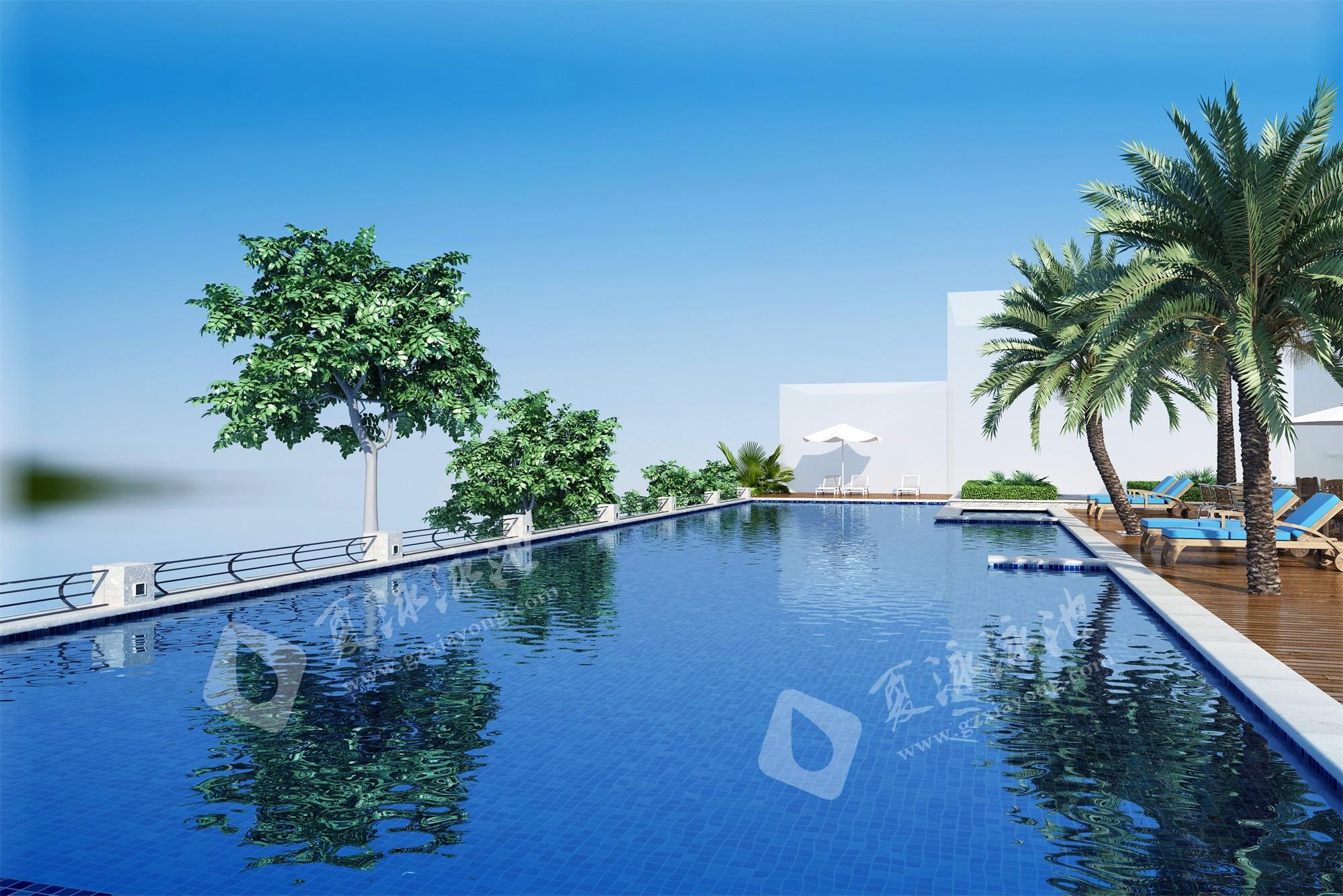 别墅室外无边际泳池,望不到边的泳池效果展示
