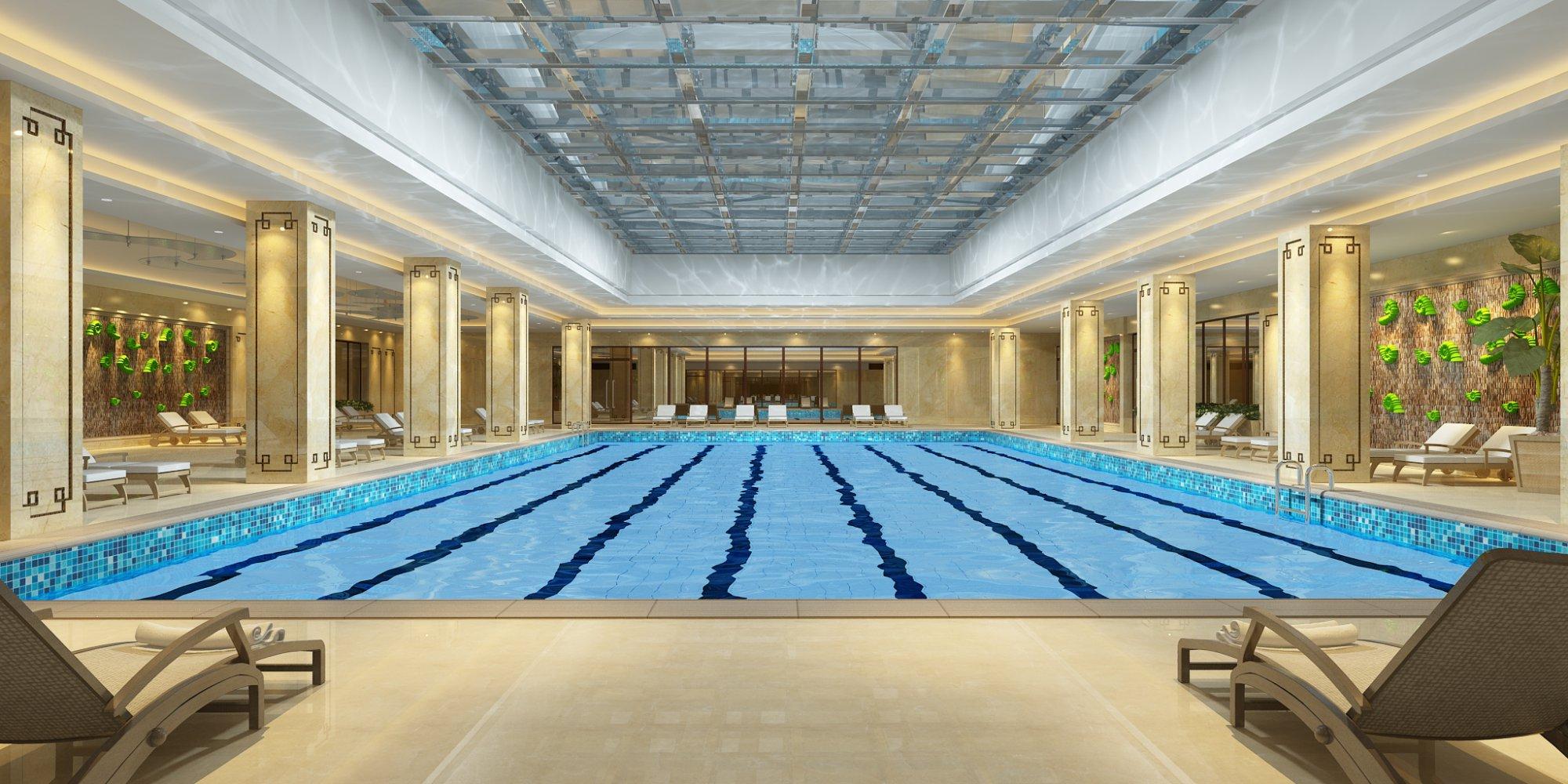 高级健身娱乐会所游泳池效果展示