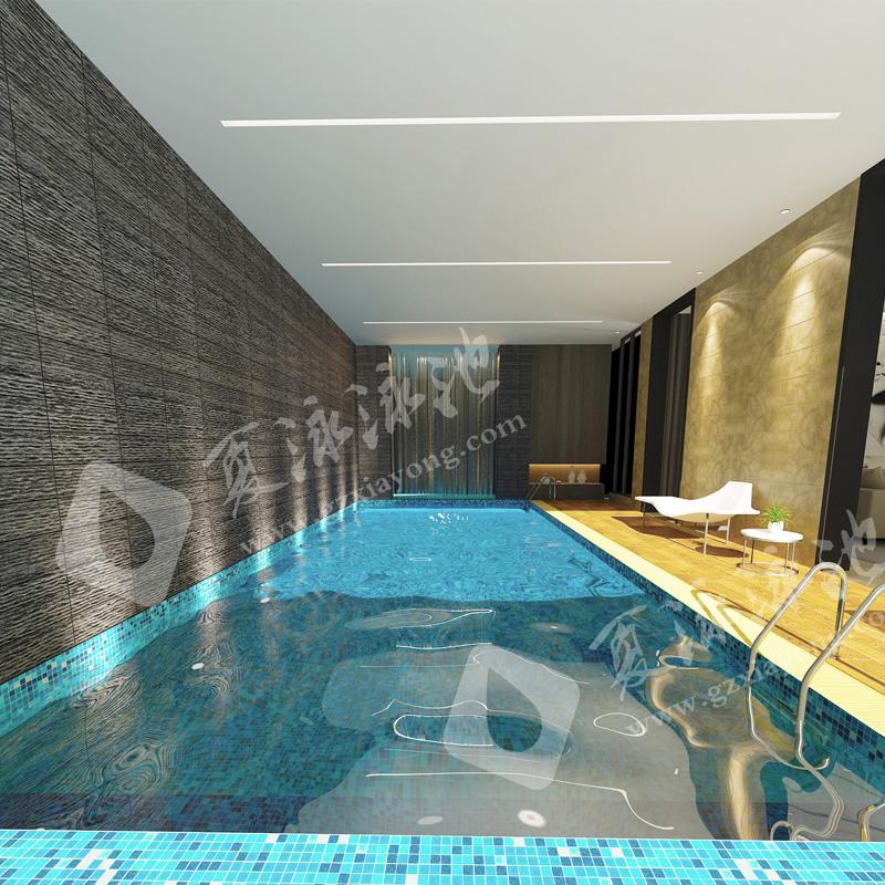 酒店类型钢结构拆装式游泳池解决方案