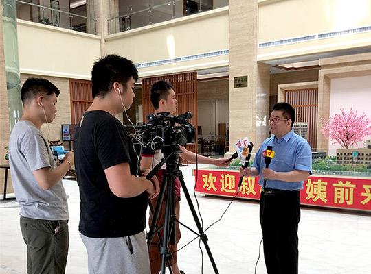 李振清会长就医养融合平台发展规划接受记者采访