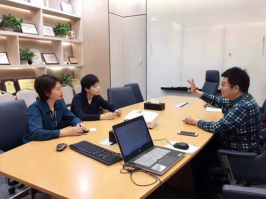李振清会长与国际中医药博览会杨秘书长一行拜访***健康