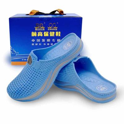 浅蓝色的前高女鞋